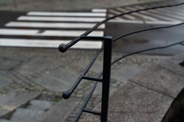 Fototapeta Barierka i pasy dla pieszych