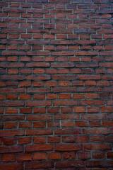 A wall made of red bricks.