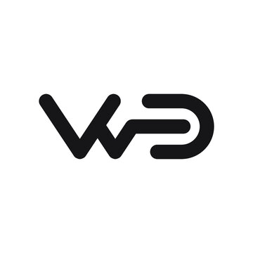 wd initial letter vector logo icon