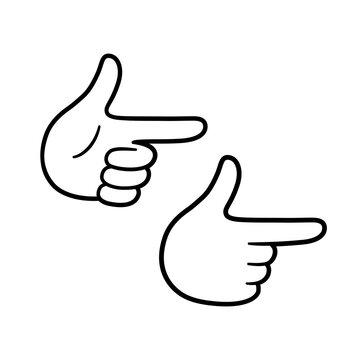 Finger guns hand gesture