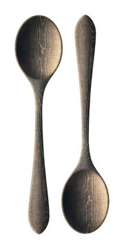 Clipping Path Wooden Spoon