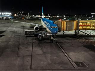 Aeroparque Airport Night Scene, Argentina