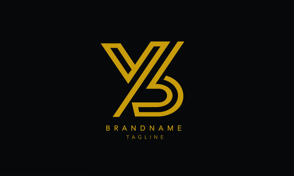 Alphabet letters Initials Monogram logo YB, BY, Y and B