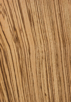 Zebrano tree veneer (zebrawood), natural wood pattern for the manufacture of furniture, parquet, doors.