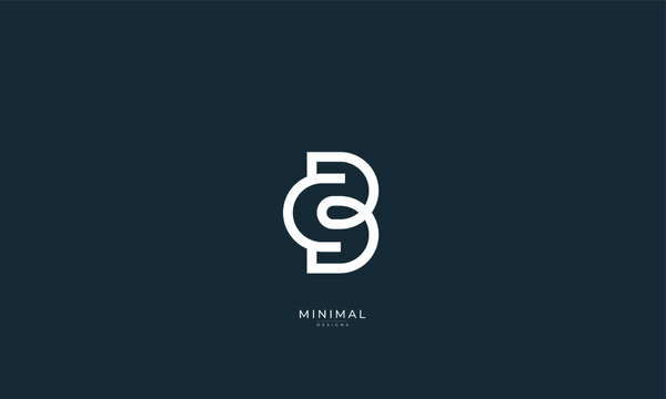Alphabet letter icon logo CB or BC
