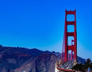 Golden Gate Bridge Northern California fall day Bay Area Sausalita PCH Pacific Coast Highway Central Coast California afternoon haze