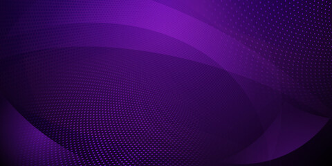 Obraz Abstract background made of halftone dots and curved lines in dark purple colors - fototapety do salonu