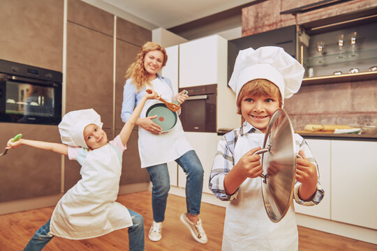 dancing on a kitchen
