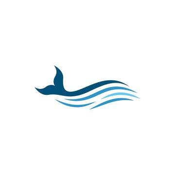 Whale fish logo