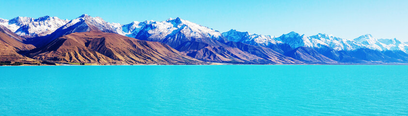 Foto op Plexiglas Turkoois New Zealand lakes