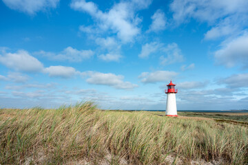 Wall Mural - Lighthouse List West, Sylt, Schleswig-Holstein, Germany