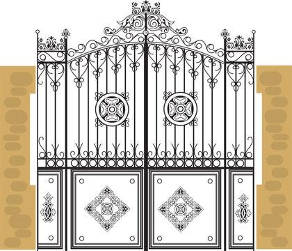 wrought iron gates metal decorative