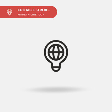 Idea Simple vector icon. Illustration symbol design template for web mobile UI element. Perfect color modern pictogram on editable stroke. Idea icons for your business project