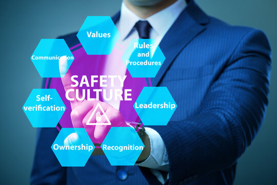 Businessman in safety culture concept