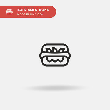 Mitraillette Simple vector icon. Illustration symbol design template for web mobile UI element. Perfect color modern pictogram on editable stroke. Mitraillette icons for your business project