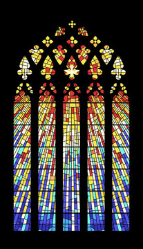 Stained Glass Window Cathedral Mosaic Medieval Style