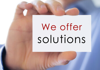 we offer solutions - business card information