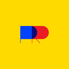 Fototapeta PR icon, public relations logo obraz