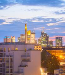 Frankfurt skyline apartment buildings Germany