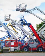 Aerial platform cranes, industrial equipment