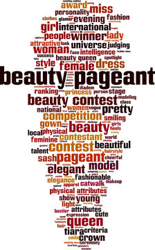 Beauty pageant word cloud