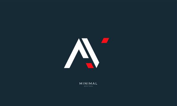 Alphabet letter icon logo AV