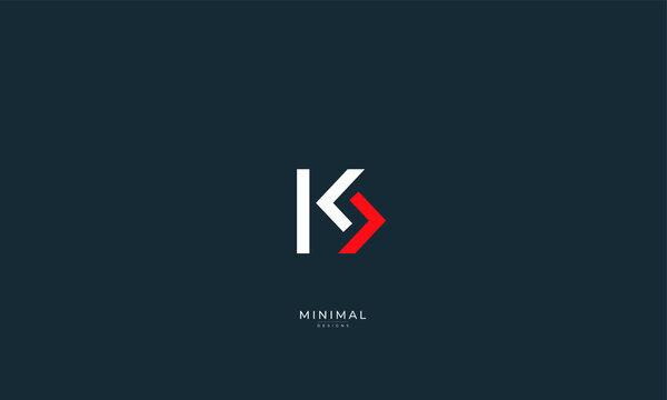 Alphabet letter icon logo KS