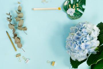 Fond de hotte en verre imprimé Hortensia Creative wedding composition