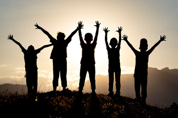 happy children, the successes of our future and tomorrow
