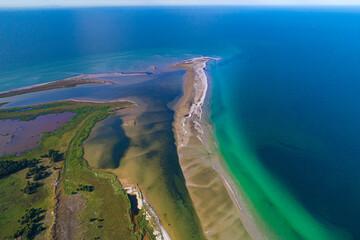 Baltic sea, Germany, Mecklenburg-Western Pomerania, Darß, Prerow, aeriel view of seaside