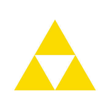Golden triforce geometric triangle power symbol