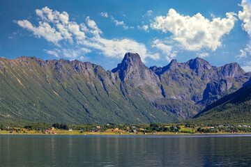 Clouds over the Kaljord mountains in Hadsel municipality, Nordland county