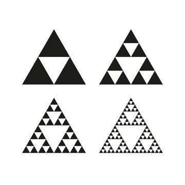 Geometric triangle symbol. Sierpinski triangle