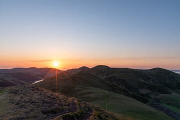 Pentland Hills sunrise over the hills