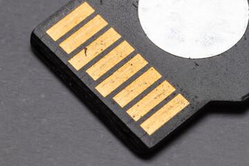 Micro SD Card Contacts Macro