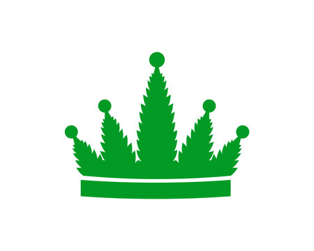 Cannabis with crown shape