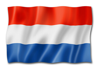 Netherlands flag isolated on white