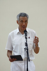 Nomination Day ahead of the general election in Singapore