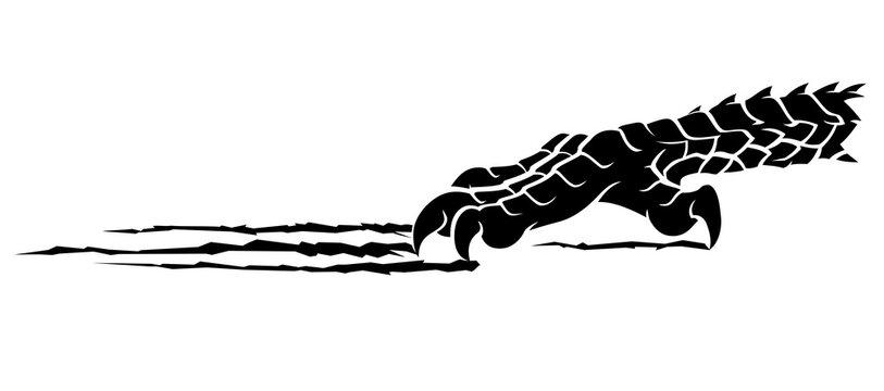 Dragon Rip Claw Silhouette Design