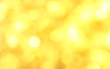 Wall Mural - Yellow abstract background with bokeh