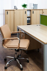 comfortable workplace in a modern office