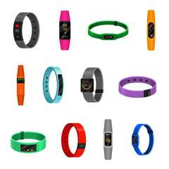 Fitness bracelet set, sport and training tracker gadget
