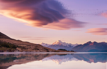Photo sur Plexiglas Aubergine Mt Cook
