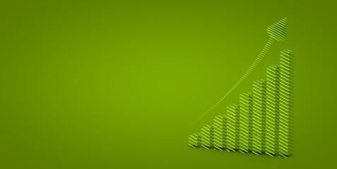 business diagramm performance data chart 3d