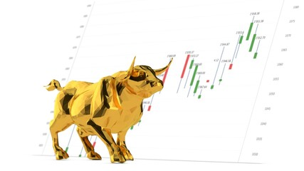 stock 3d market finace graph chart