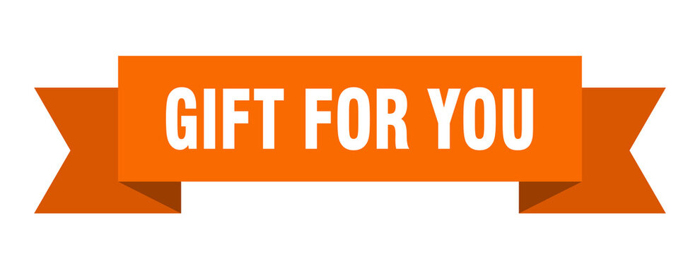 gift for you ribbon. gift for you isolated band sign. gift for you banner