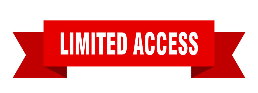 limited access ribbon. limited access isolated band sign. limited access banner