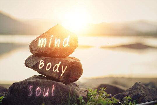 Concept body, mind, soul, spirit