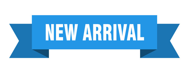 new arrival ribbon. new arrival isolated band sign. new arrival banner