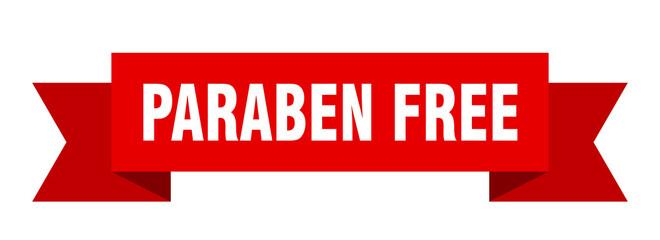 paraben free ribbon. paraben free isolated band sign. paraben free banner Wall mural